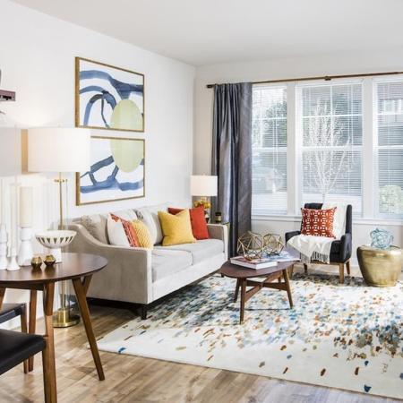 Colorful Living Area in One-Bedroom Apartment | Apartments for rent in Fairfax, VA | Modera Fairfax Ridge