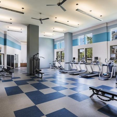 Cardio and Weight Machines in Fitness Studio | Modera Fairfax Ridge