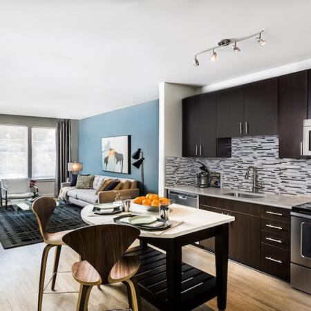 Open Floor Plan Layout with Wood Plank-Style-Flooring | Modera Fairfax Ridge