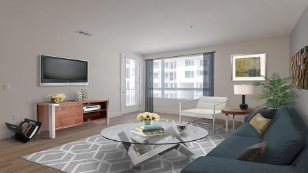 Luxurious Living Room | Apartment Homes in Glendale, CA | Modera Glendale