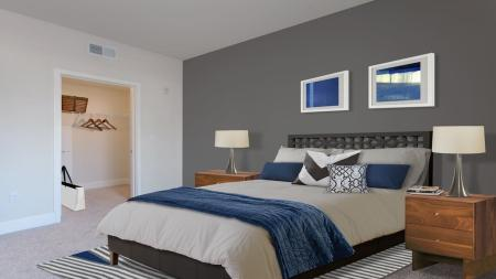 Master Bedroom with Walk-In Closet   Modera Glendale