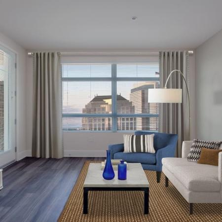 Open Living Space with Large Windows |Modera Glendale