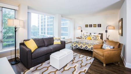Studio Apartment Floor Plan | The View at Waterfront