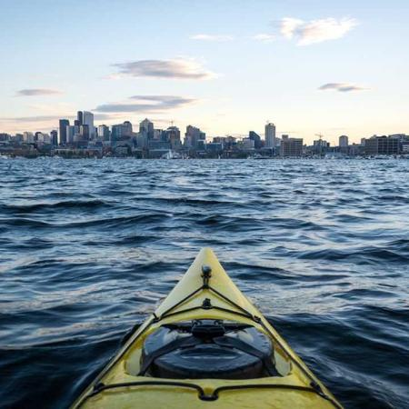 Kayak in Elliot Bay | Modera South Lake Union