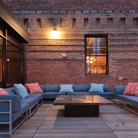 Outdoor Rooftop Lounge | Apartments Homes for rent in Jersey City, NJ | Modera Lofts