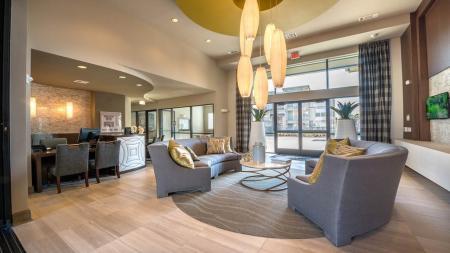 Leasing Office and Resident Lobby | Modera Energy Corridor