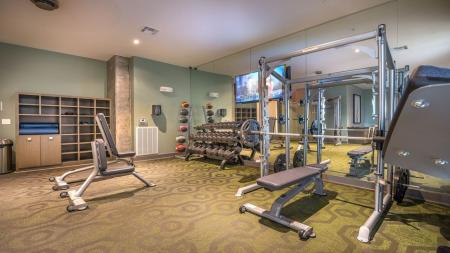 Free Weights and Weight Machines in Fitness Center | Modera Flats