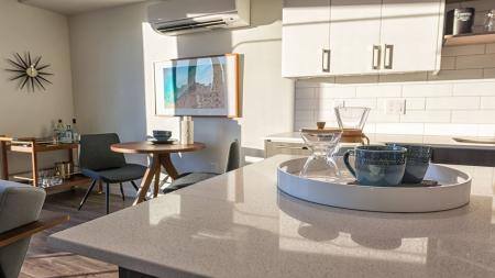 Light Kitchen with Quartz Counters | Modera South Lake Union