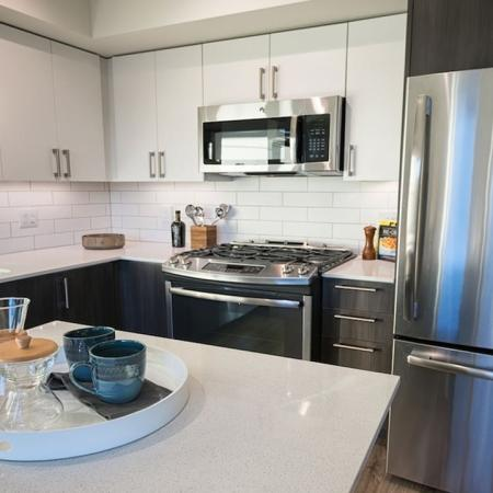 Apartment Home Kitchen and Island | Modera South Lake Union