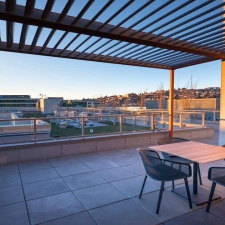 Rooftop Lounge with City Views | Modera South Lake Union