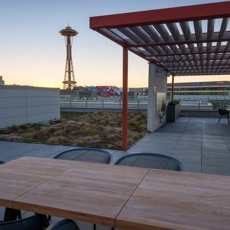 Rooftop Lounge with Space Needle View | Modera South Lake Union
