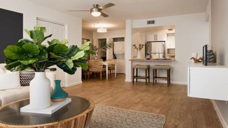 Open Layout Apartment with Wood Vinyl Flooring | Alister Boca Raton