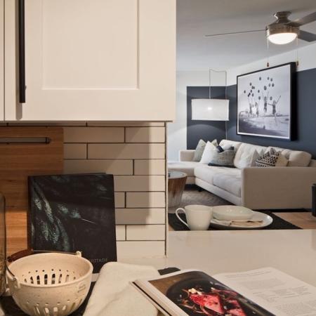 Modern Kitchen with White Quartz Counters and Tile Backsplash | Alister Boca Raton