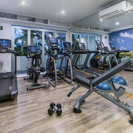 Upgraded Fitness Studio with Cardio Machines | Alister Sherman Oaks