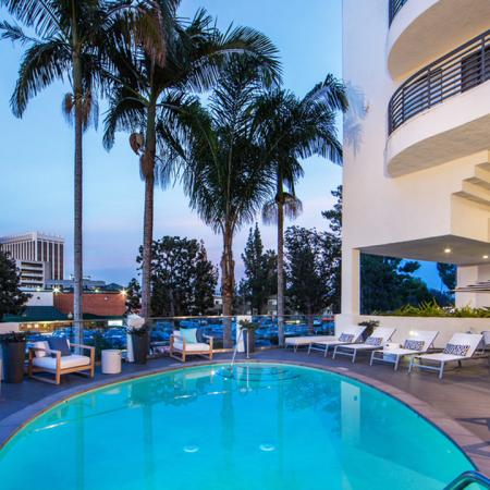 Elevated Resort-Style Pool Deck | Alister Sherman Oaks