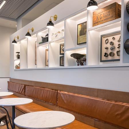 Wi-Fi Lounge with Historical Elements| Modera South Lake Union