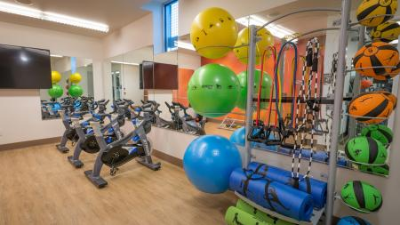Spin Bikes, Stretch and Fitness Equipment in Fitness Center | Modera South Lake Union