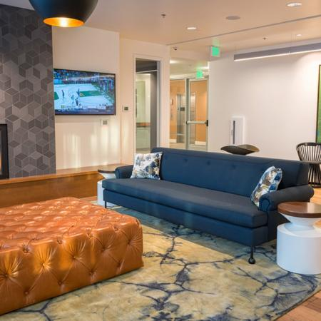 Cozy Lounge Seating and Fireplace | Modera South Lake Union