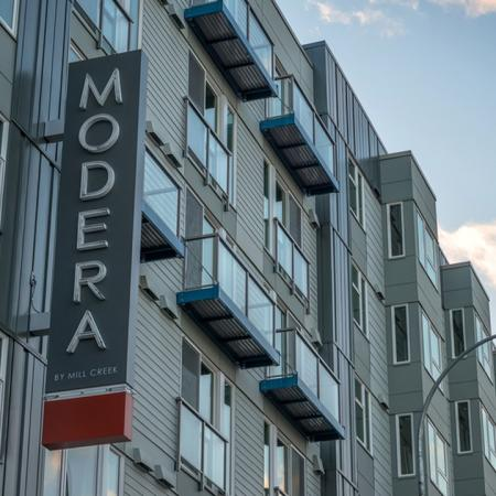 Modera South Lake Union Blade Sign | Modera South Lake Union