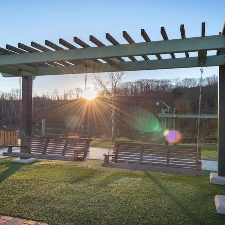 Swings at Abernathy Greenway Park | Modera Sandy Springs