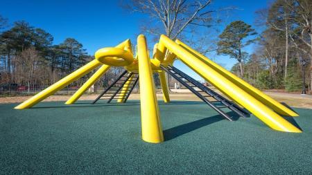 Climbing Structure at Abernathy Greenway Park   Modera Sandy Springs