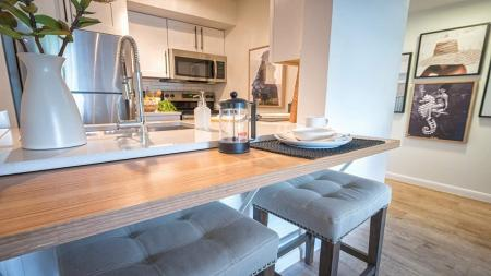 Convenient Breakfast Bar in Kitchen | Alister Boca Raton