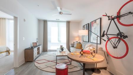 Living Room in One-Bedroom Apartment | Modera Midtown