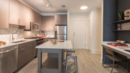 Built-In Work Desk in One-Bedroom Apartment | Modera Midtown