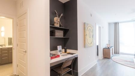 One-Bedroom Apartment with Built-in Desk | Modera Midtown