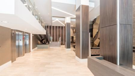First Floor of Lobby with Elevators | Modera Midtown
