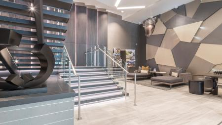 Lobby Staircase and Lounge Seating | Modera Midtown