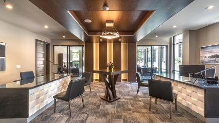Welcoming Leasing Lobby | Modera Near the Galleria