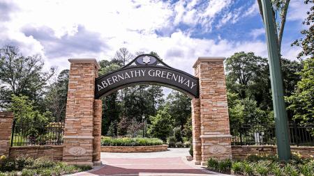 Gateway to Abernathy Greenway Park   Modera Sandy Springs