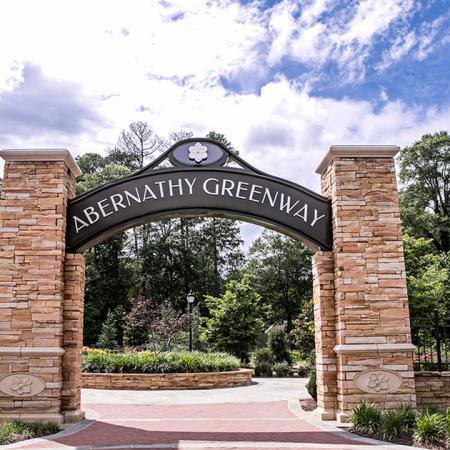 Gateway to Abernathy Greenway Park | Modera Sandy Springs