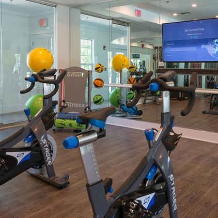 Spin Area in Fitness Center