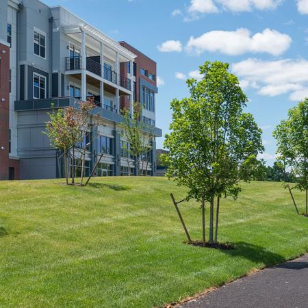 Lushly Landscaped Grounds | Modera Medford