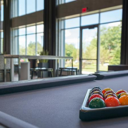 Billiards Table and Gaming Area | Modera Medford