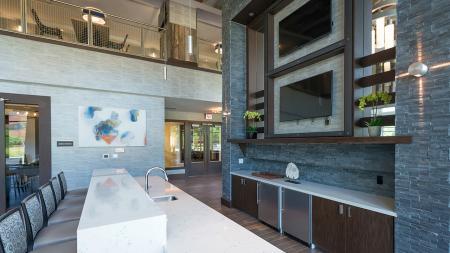 Entertaining Kitchen and Bar | Modera Medford