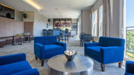 Sky Lounge Overlooking City | Modera Medford