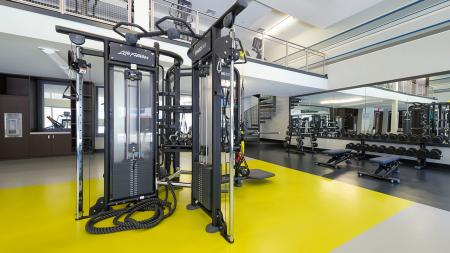 Weight Machines in Fitness Center | Modera Medford