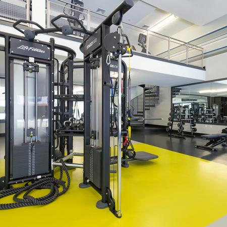 Weight Machines in Fitness Center | Modera Medford