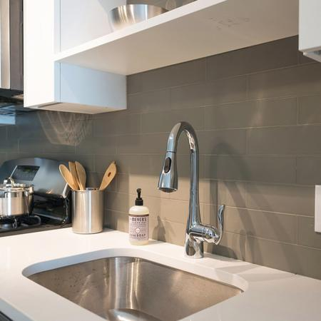 Quartz Counter and Tile Backsplash |Modera Medford