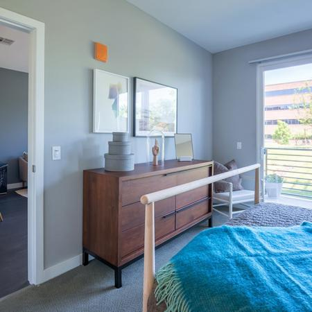 Large Windows and Private Balcony | Modera Medford