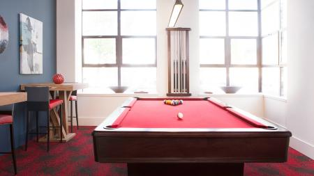 Billiards Table in our Game Room | Skye at Belltown