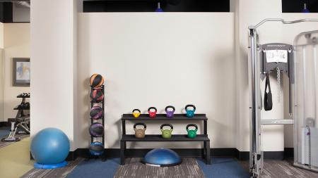 Kettle Balls and Medicine Balls in our Fitness Studio   Skye at Belltown