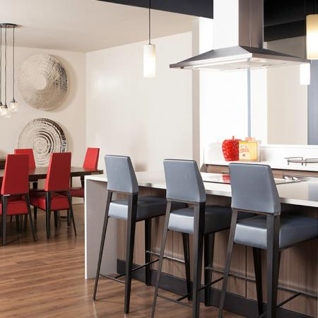 Resident Clubhouse Kitchen | Skye at Belltown