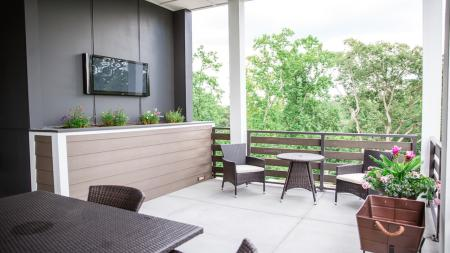Private Rooftop Deck in Terrace Homes | Modera Morningside
