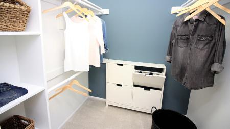 Walk-In Closet in Master Bedroom | Alister Town Center Columbia