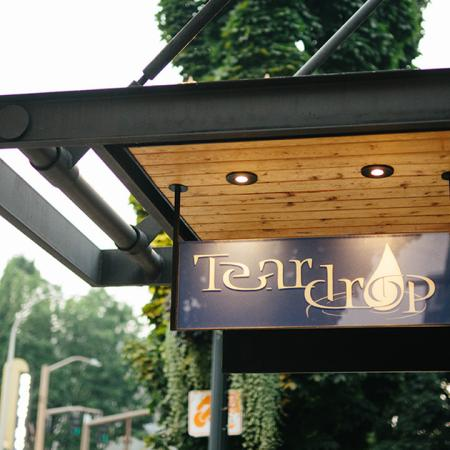Exterior of local establishment Tear Drop