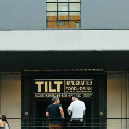 Exterior of local establishment Tilt